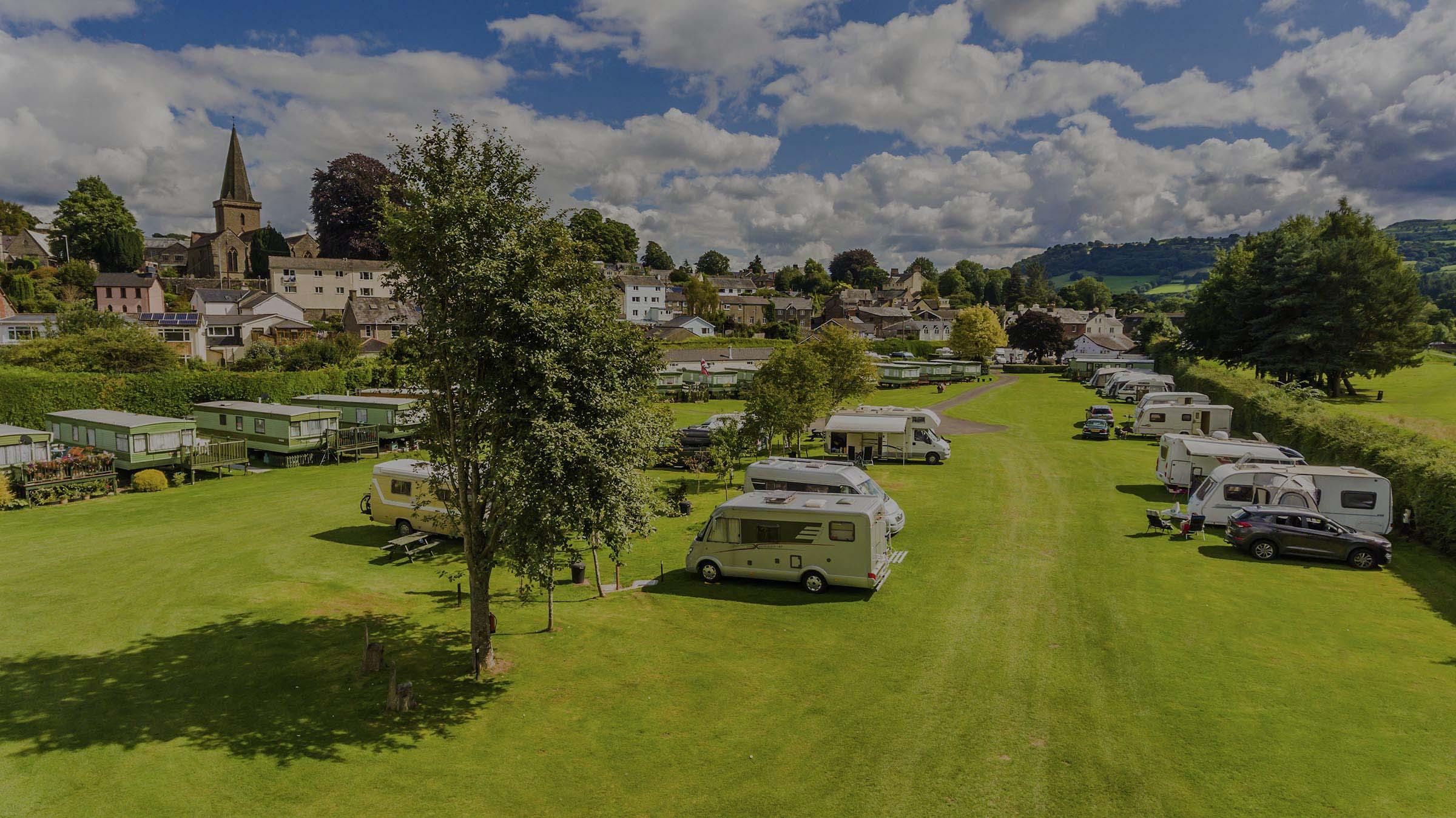 Riverside Caravan & Camping Park in Crickhowell, Wales
