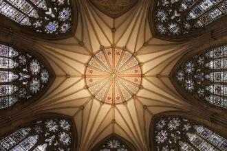 York Minster's vaulted ceiling